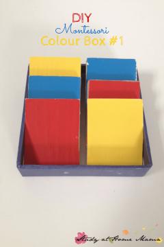 DIY Montessori Materials: Colour Box 1
