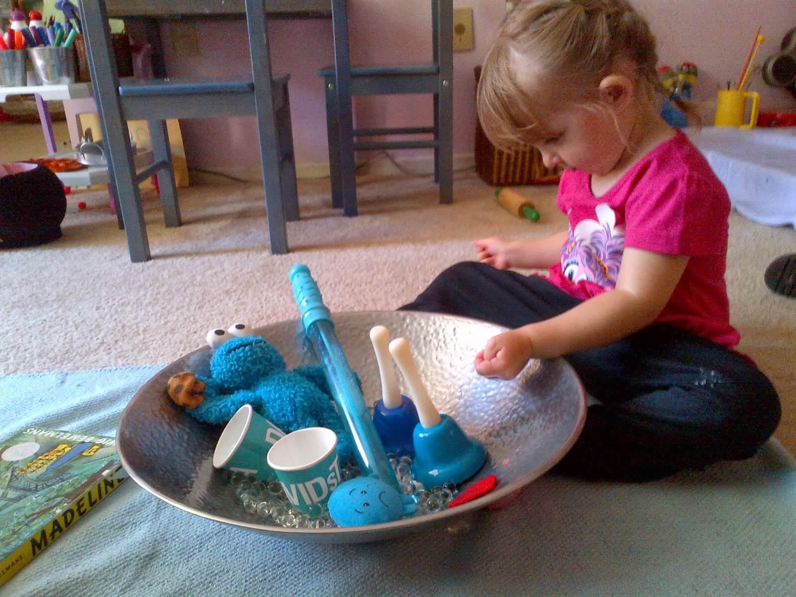 Sad Sensory Bin - teaching emotional regulation through sensory play!