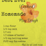 We HEART Homemade Playdough!