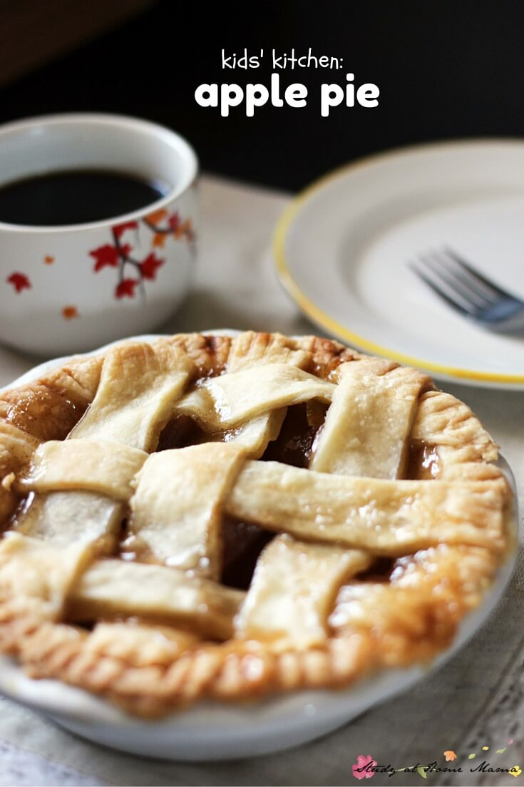 Kids' Kitchen: Apple Pie Recipe that is so incredibly easy and tasty - you won't believe that it came out of your kitchen! The perfect fall recipe for kids to make