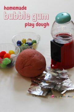Homemade Bubble Gum Play Dough