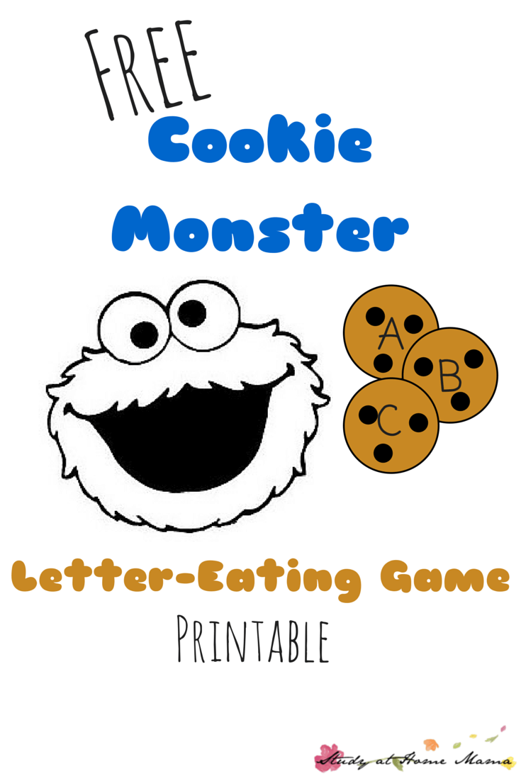 Free Cookie Monster Letter-Eating Game Printable: Hands-on alphabet learning with an easy tissue box toy