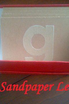 DIY: Sandpaper Letters