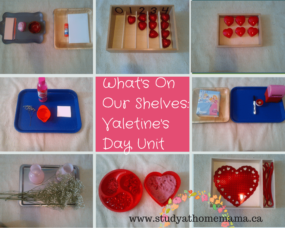 What's On Our Shelves: Valentine's Day Unit Study on Study-at-Home Mama #montessori