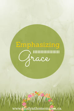 Emphasizing Grace