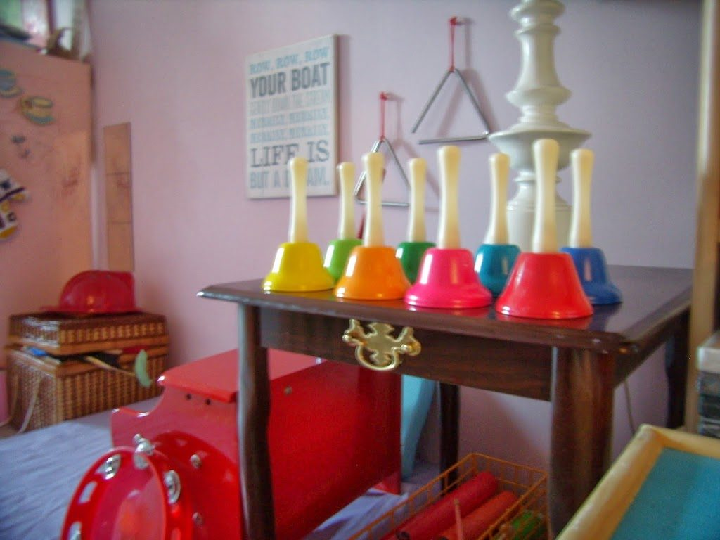 Schylling handbells in our music corner for St Patrick's Day