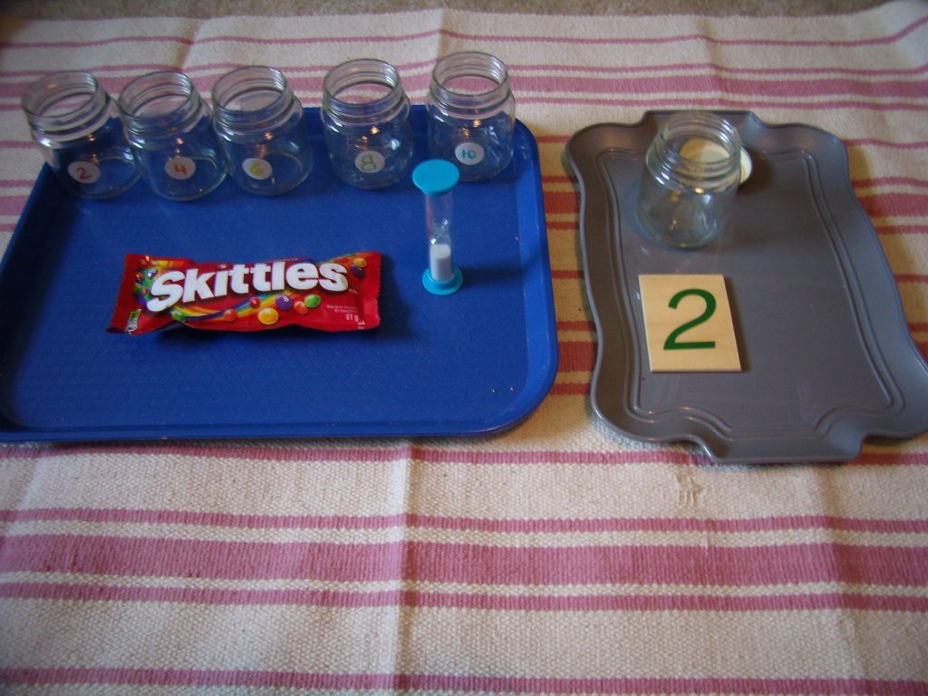 Candy Science Experiment with Skittles for Montessori St Patrick's Day Activities