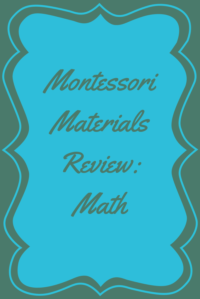 Montessori Math Materials Review by Study-at-Home Mama