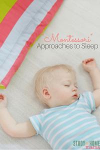 Montessori Approaches to Sleep