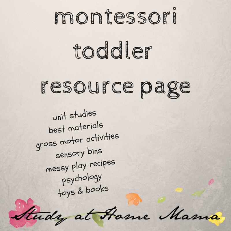 Montessori Toddler Resource Page