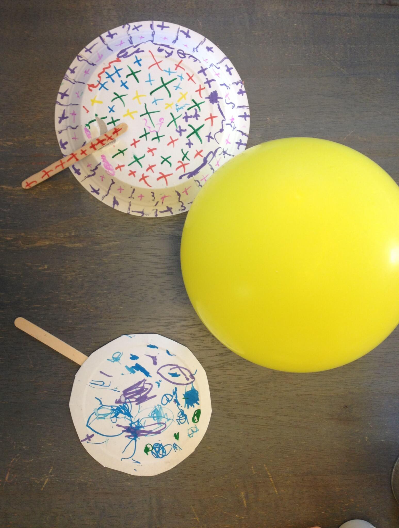 Balloon tennis at Study-at-Home Mama