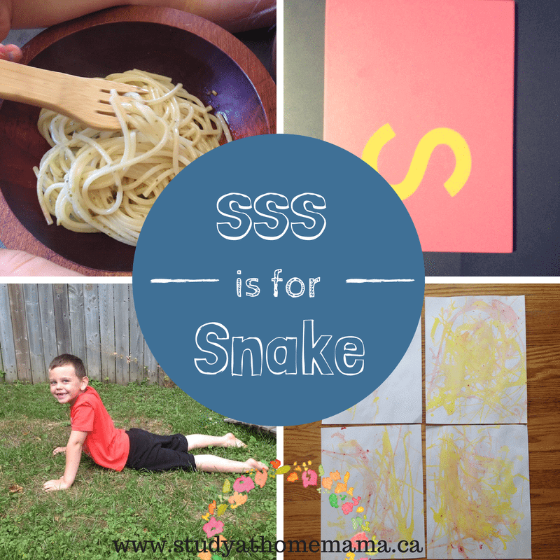 sss is for snake at Study-at-home Mama