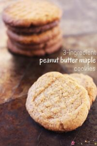 3-ingredient peanut butter maple cookies