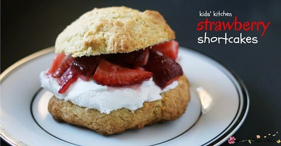 An easy strawberry shortcake recipe that can help kids' kitchen skills and confidence. Starts with a Montessori Preschool activity, hulling strawberries. An easy healthy strawberry shortcake recipe