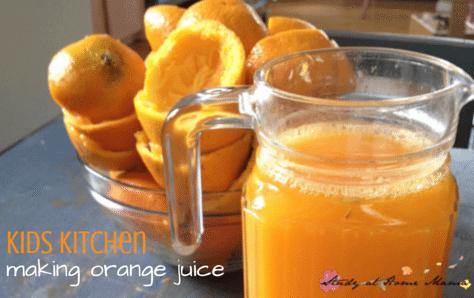Kids Kitchen Orange Juice practical life lesson
