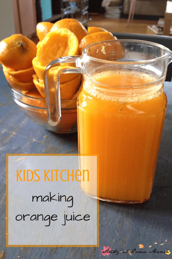 Kids Kitchen: Making Orange Juice, Montessori Practical Life Work