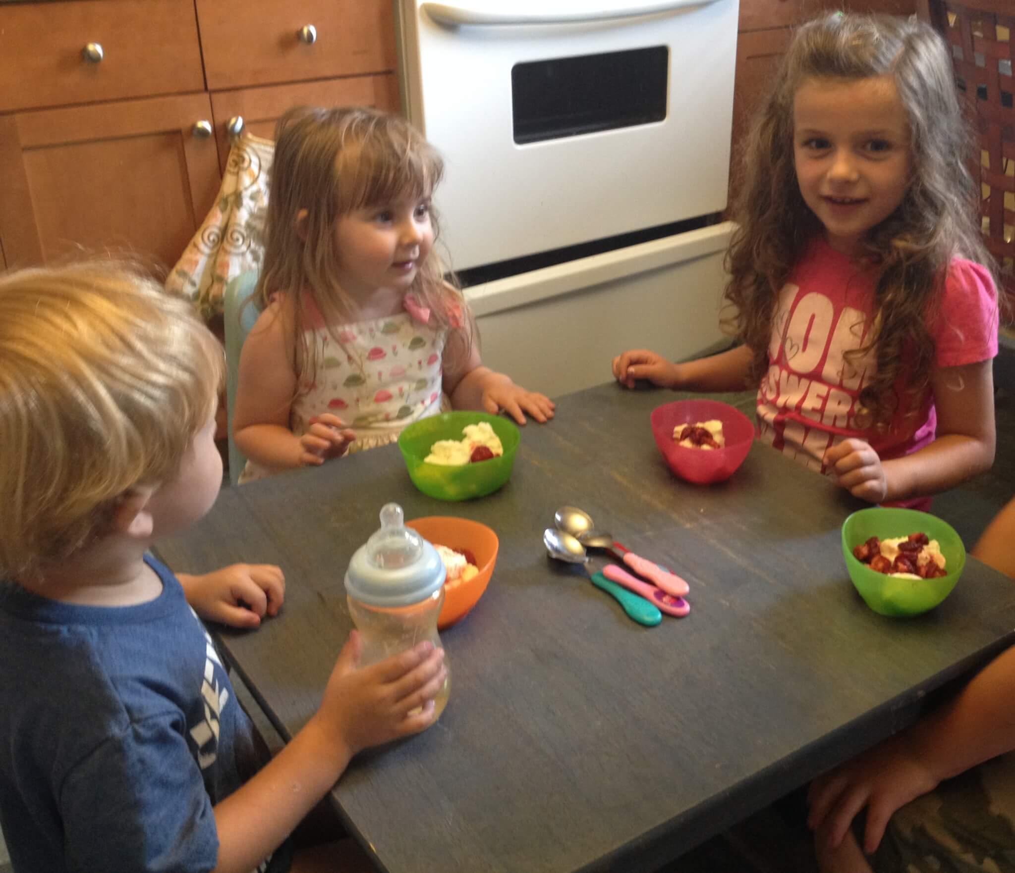 tennis strawberries and ice cream preschool snack