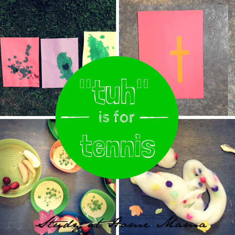 "tuh is for tennis | learning ""t"" letter sound at  Sugar, Spice and Glitter"