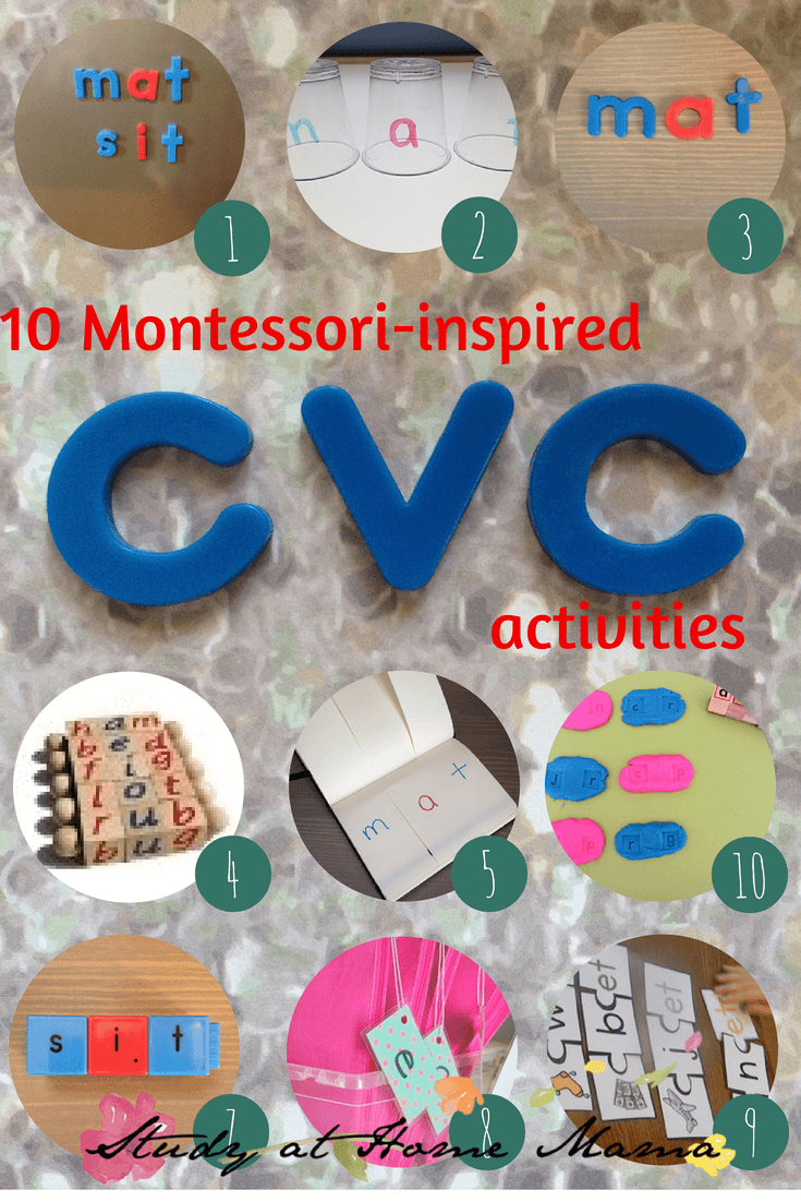 10 Montessori activities for CVC words at Sugar, Spice and Glitter