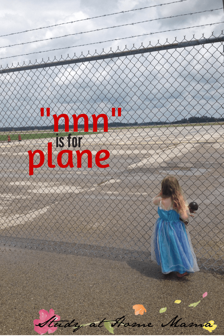 "letter sound ""n"" for plane unit study"