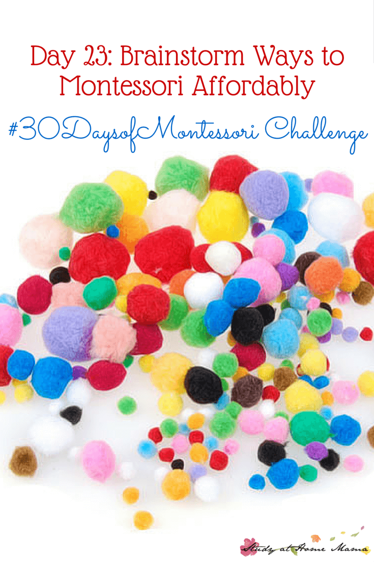 A Montessori homeschooler shares how she affords to Montessori homeschool on a budget & gives strategies to get you started on the Montessori Journey - part of the #30daystoMontessori challenge