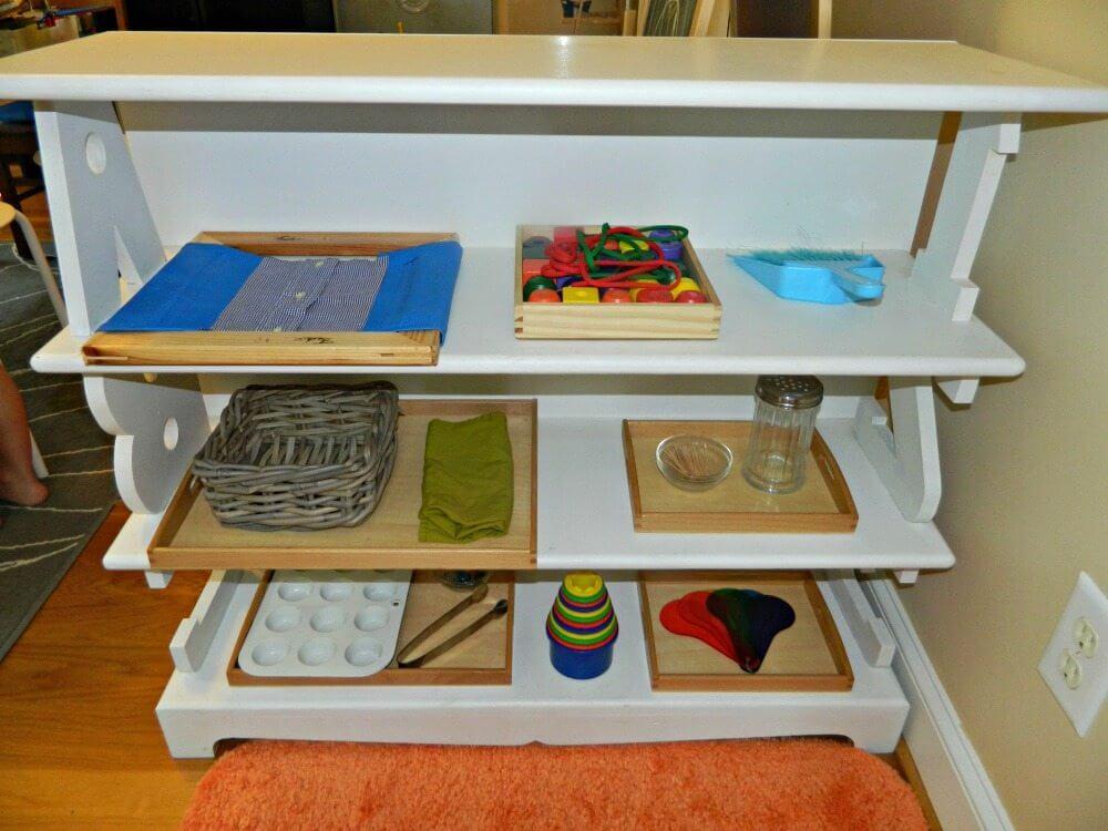 Practical Life Shelf #30daystoMontessori