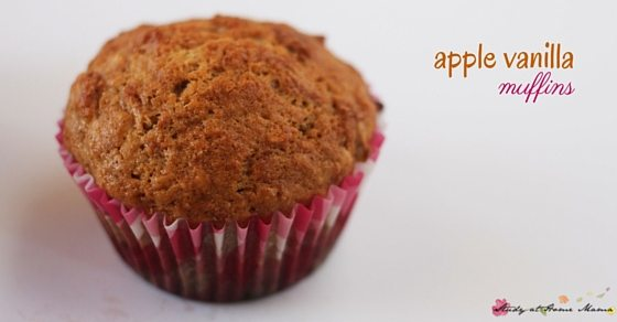 Easy Healthy Recipe for Apple Vanilla Muffins, a kids' kitchen success!