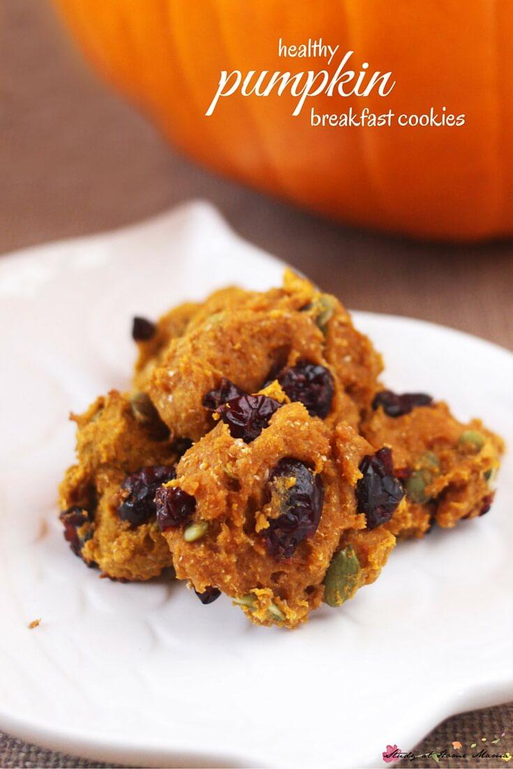 for pumpkin breakfast cookies, made with real pumpkin, cranberries ...