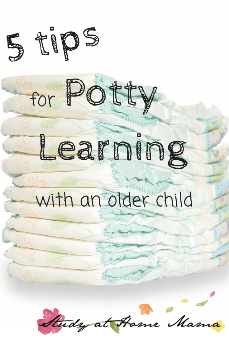 5 tips for potty learning with an older child
