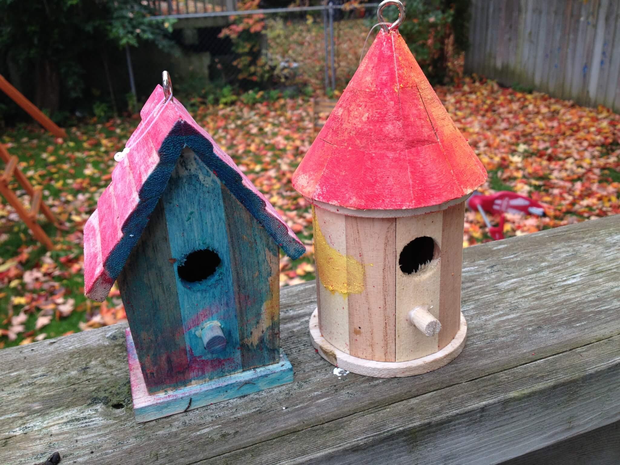 diy birdhouses for montessori bird unit