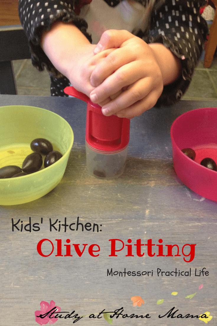 Kids' Kitchen: Olive Pitting #montessori