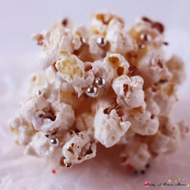 These homemade popcorn balls are a fun twist on Rice Krispie Squares