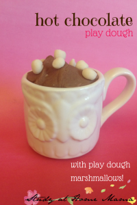 Hot Chocolate Play Dough