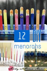 12 DIY Menorahs