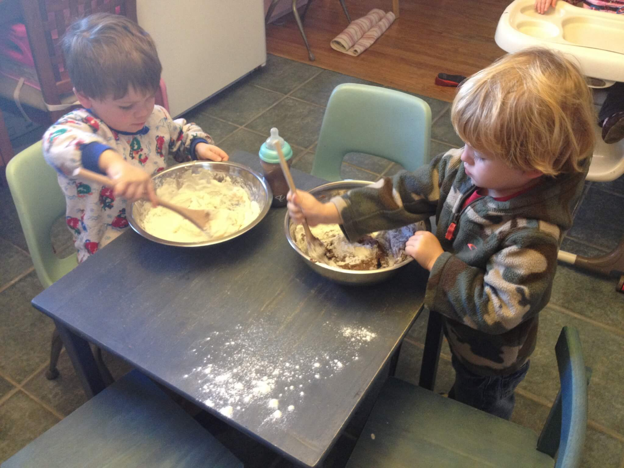 Making Homemade Play Dough in the Kids Kitchen: Let Kids Help