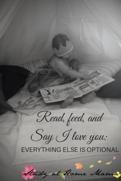 Feed, Read, and Say I Love You: Everything Else is Optional
