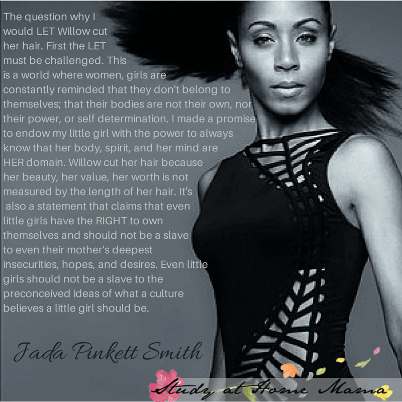 Jada Pinkeet Smith quote about her daughter's hair