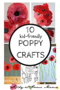 10 Kid-Friendly Poppy Crafts