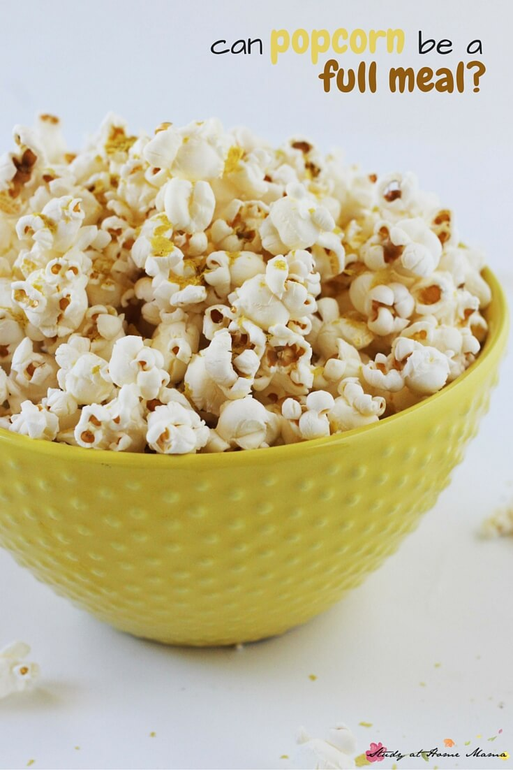 Can popcorn be a full meal? How to make a homemade cheesy popcorn that is incredibly healthy and contains many of your daily nutritional needs - an easy, healthy snack recipe that your kids will love.