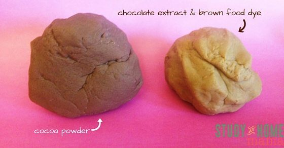 A comparison of two different hot chocolate play dough recipes