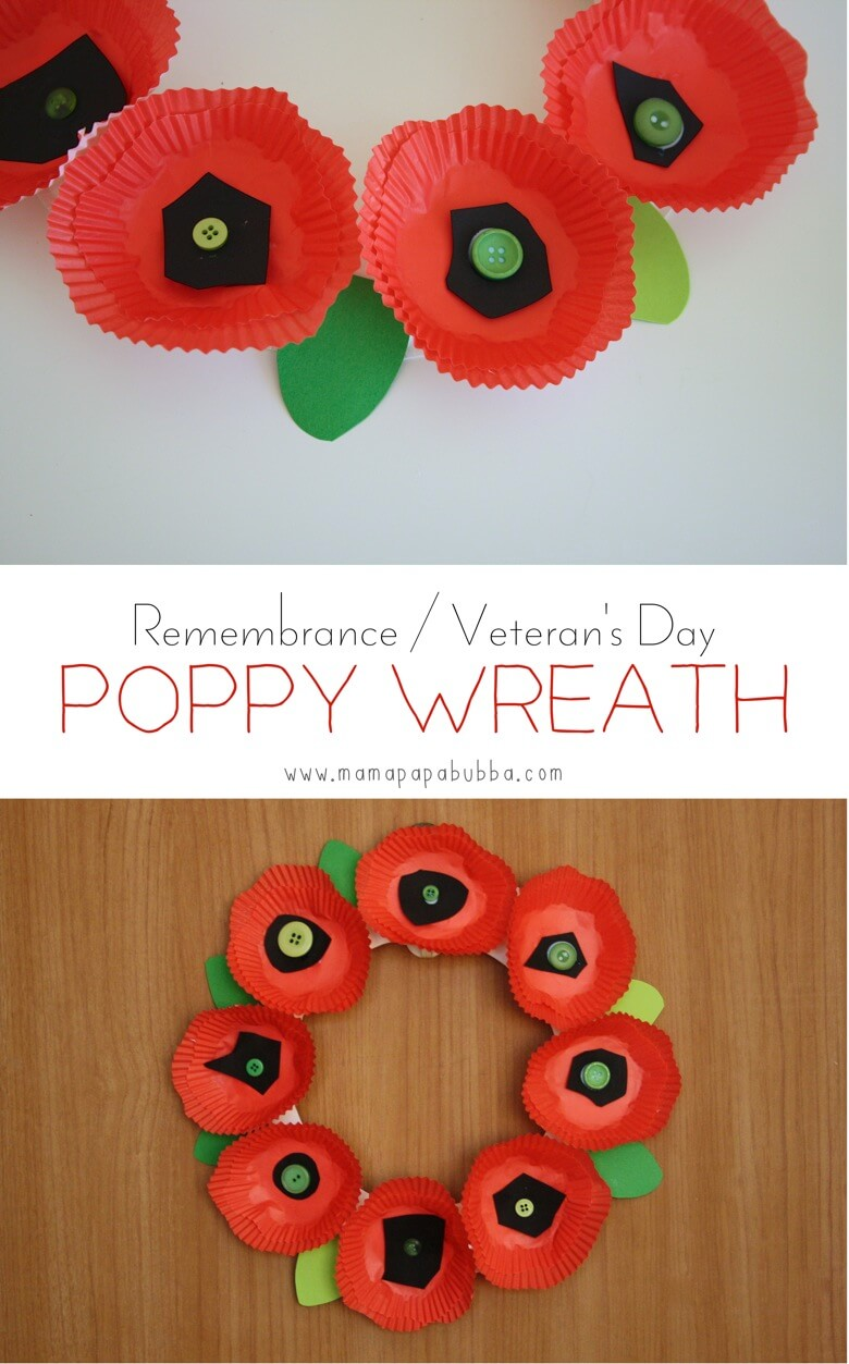 Veterans Day Poppy Wreath