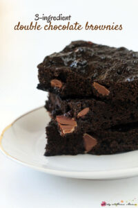 3-ingredient Double Chocolate Brownies