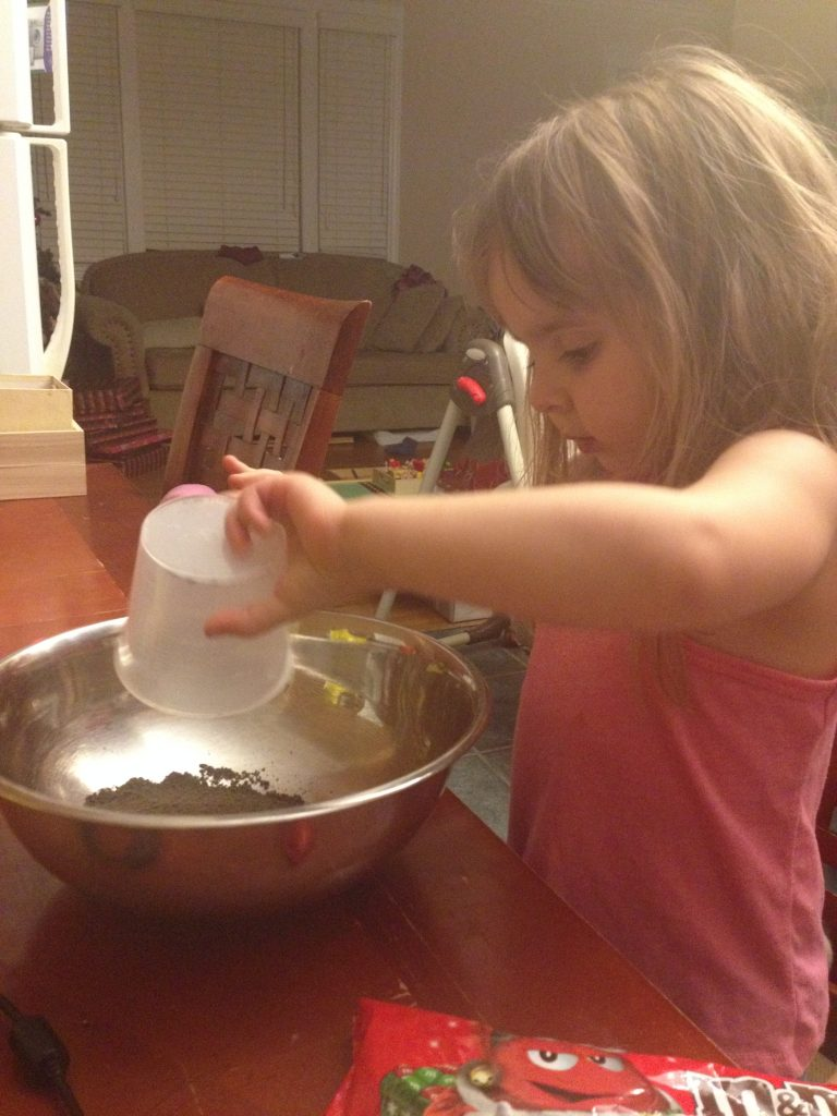kids kitchen: making brownies