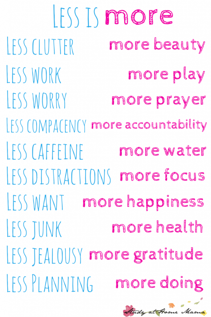 Less of this, More of that FREE PRINTABLE - Striving for less to live more. Part of a monthly series of establishing family values to create a family culture that you love by setting monthly challenge