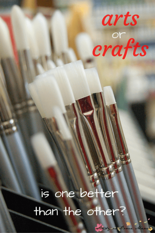 Arts versus Crafts - is one better than the other? a Montessori teacher shares her thoughts