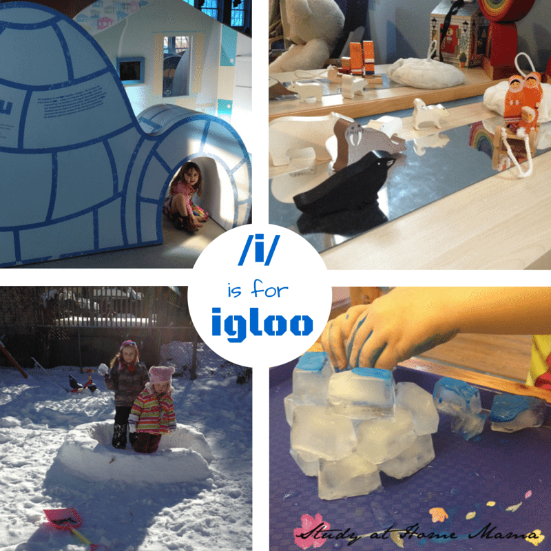 /i/ is for igloo - learning phonemes with montessori reggio and orton-gillingham methods.