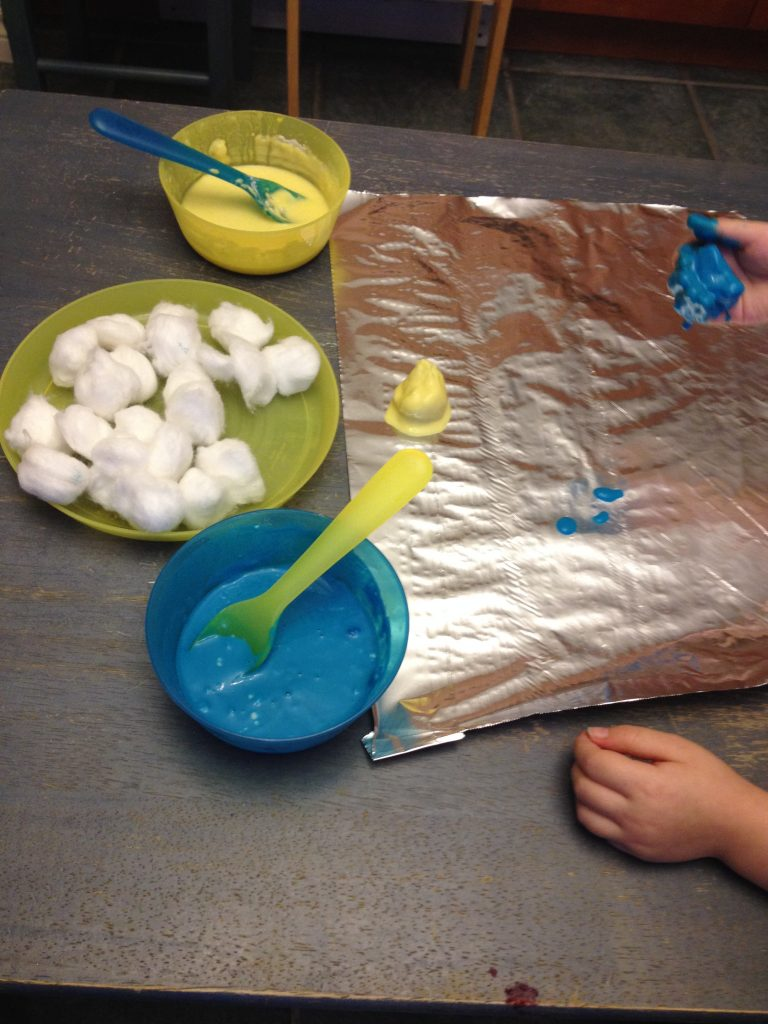 5 Ways to Play with Cotton Balls: Cotton Ball Smash Painting