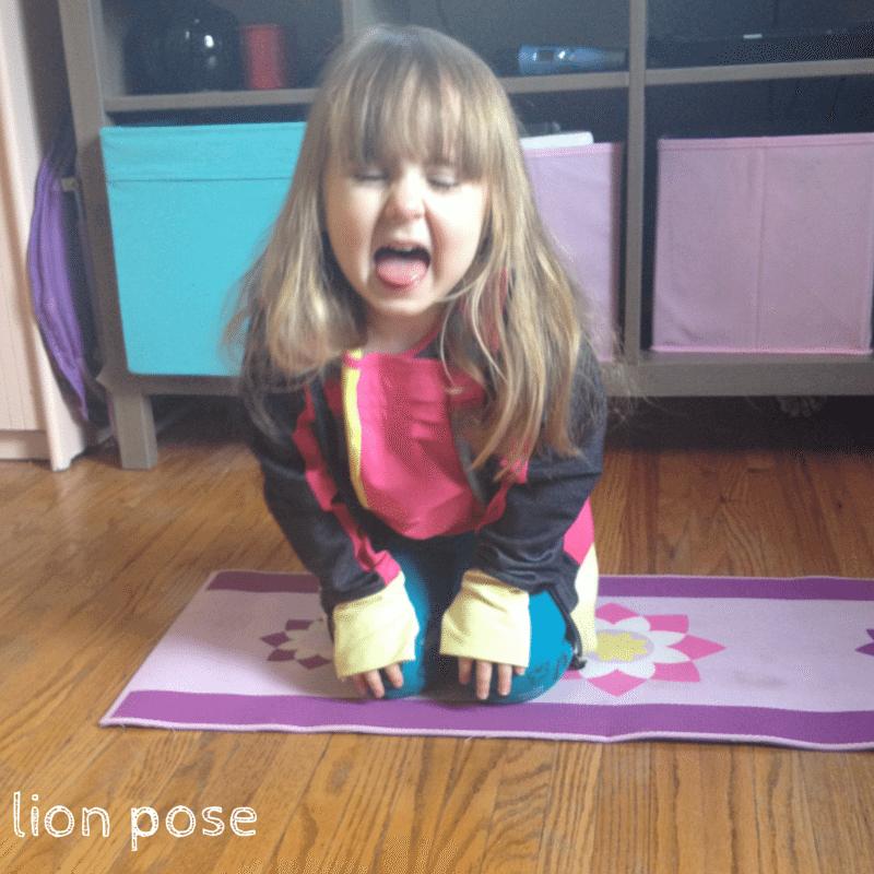 lion pose