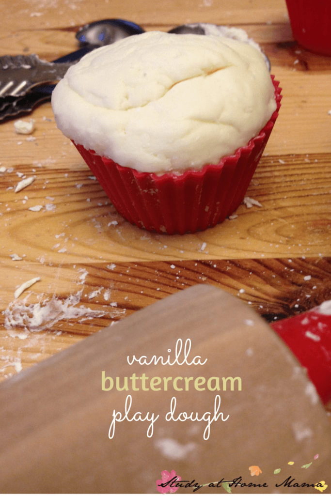 Vanilla Buttercream Play Dough - such an easy homemade play dough recipe, the kids made it!
