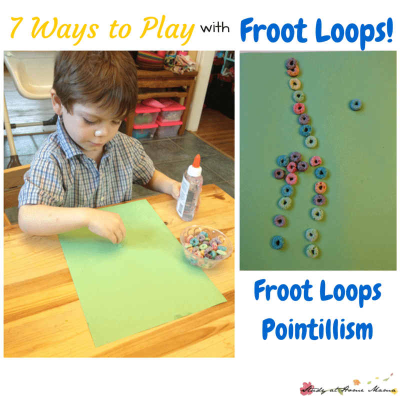7 Ways to Play with Froot Loops: Froot Loops Pointillism Art!